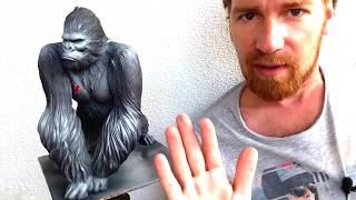 🔴Урок Как Тонироват Покраска Скульптуры Кинг Конга🔴Покраска Аэрографом Купили Бронзовую Скульптуру