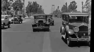 A Drive Down Wilshire Blvd in Beverly Hills 1935