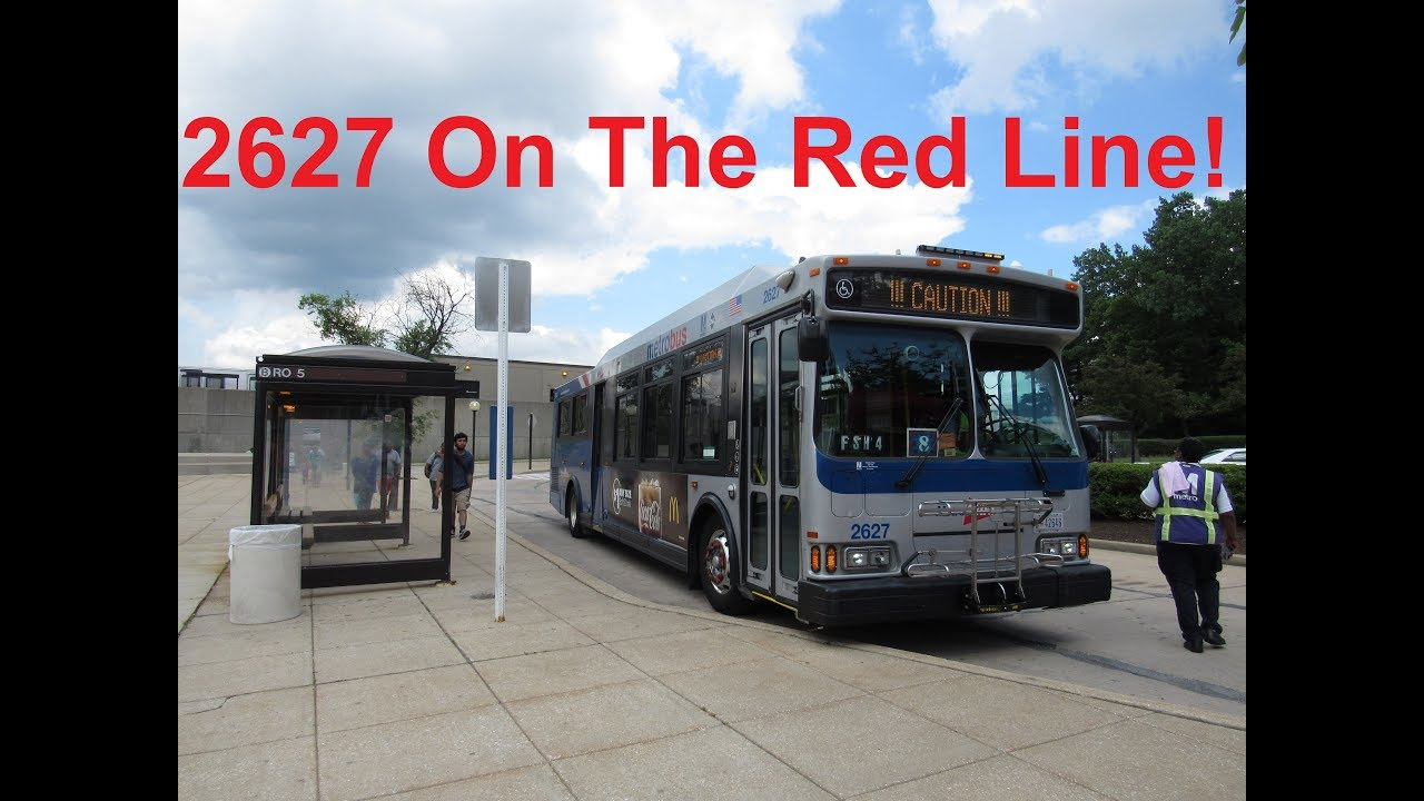 NeoplanDude WMATA Metrobus 2006 Orion VII CNG #2627 On The Red Line Shuttle!
