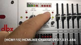 [HCM115] Chỉnh EQ DBX 2231S, 215S, Gói cài đặt vang số dòng X. ĐT Hoàng Q12. 0937031686