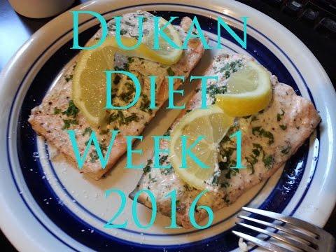 Dukan Diet menu for Week 1