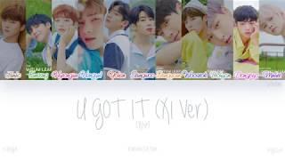 Gambar cover [HAN|ROM|ENG] X1 (엑스원) - U GOT IT (X1 Ver.) (Color Coded Lyrics)
