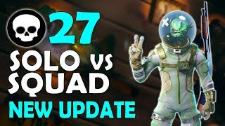 27 KILL | NEW UPDATE SOLO VS SQUAD | DAEQUAN NEW PERSONAL RECORD - (Fortnite Battle Royale)