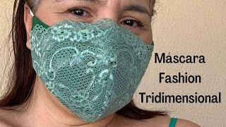 Máscara Fashion Tridimensional com Molde em 3 Tamanhos