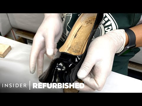 How A $1,000 Pair Of Dog-Bitten Louboutins Are Professionally Restored | Refurbished