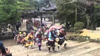 松江神社から天守閣に向けての武者との行列❗  ❗️
