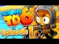 NEW Bloons Game! - Bloons TD 6 Gameplay Walkthrough - Episode 1 - Quincy Hero! (iOS, Android)