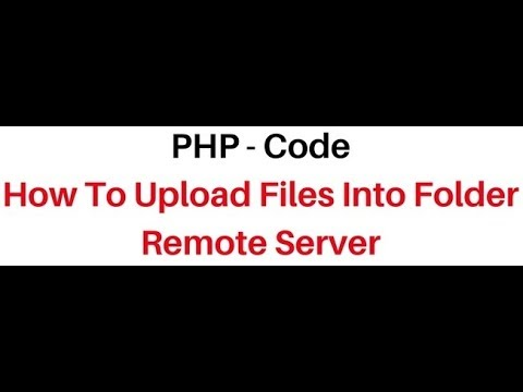 php Tutorial how to File Upload and save into a folder html5