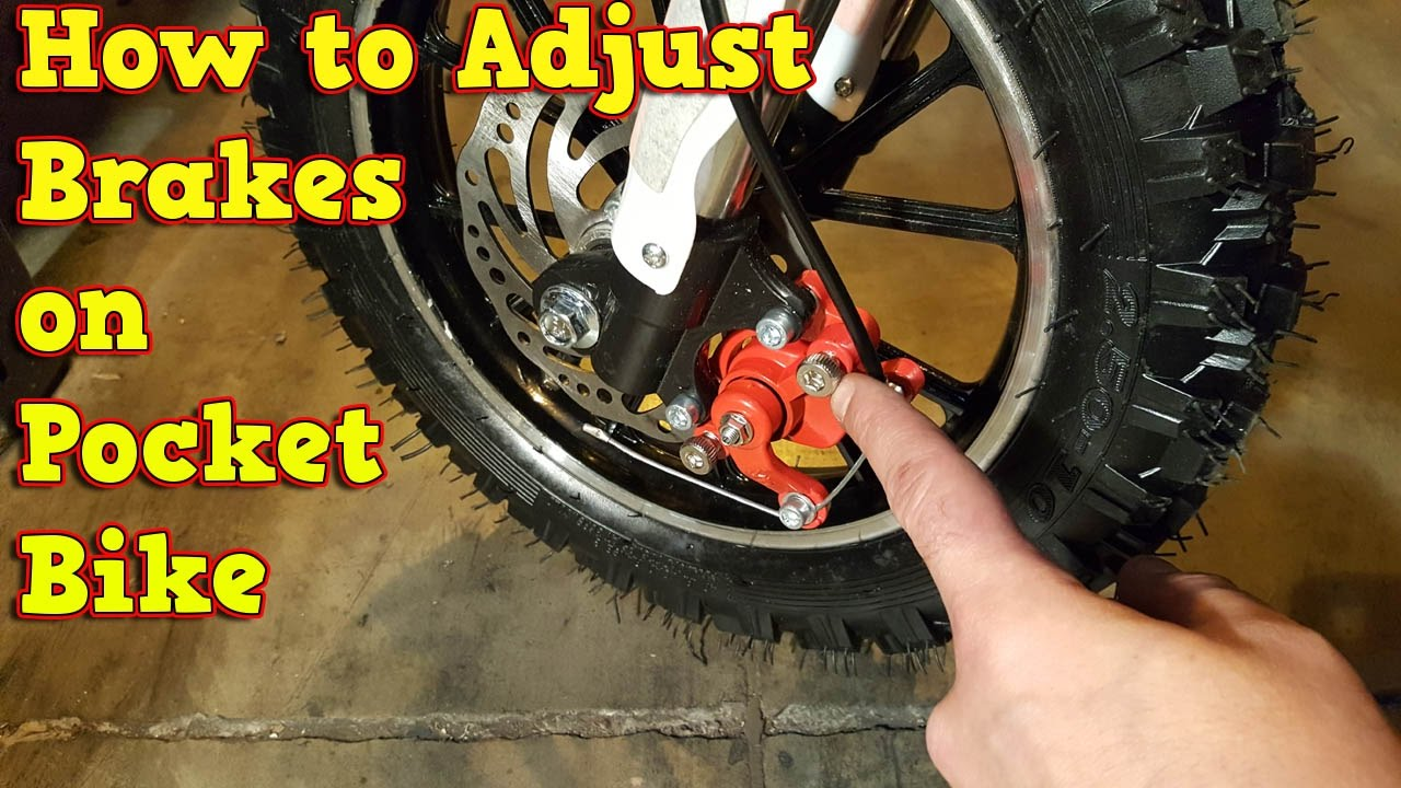 How to Adjust Brakes - Mini Dirt Bike 49cc - 50cc Pocket Bike ...