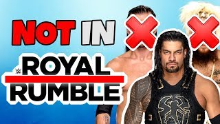 5 Superstars NOT in the Men's Royal Rumble Match 2019!