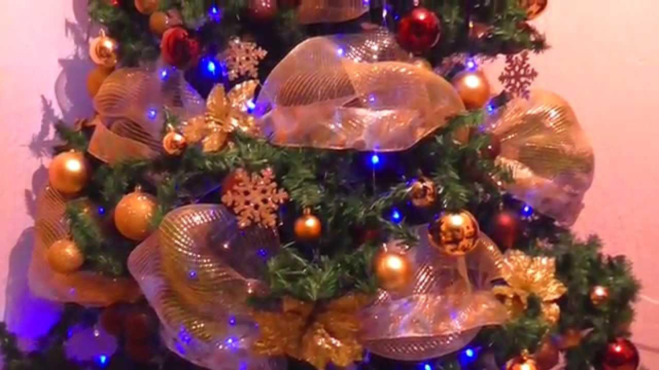 Arbolito navide o dorado y caf 2014 supermanualidades - Arbol navidad dorado ...