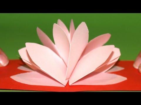 Tarjeta Pop-Up Flor de Loto - DIY - Lotus Flower Pop-Up Card