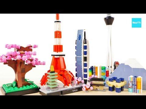 lego-architecture-tokyo-+-sakura-tree-21051-speed-build-&-review