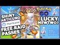 HURRICANE SHINY ARTICUNO & FREE RAID PASS IN POKEMON GO | LUCKY MEWTWO? LUCKY TRADES
