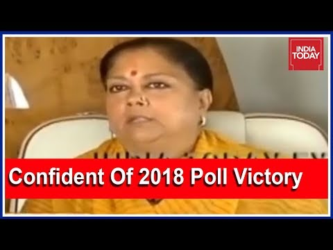 "Vasundhara Raje Exclusive: ""Confident Of Victory In Rajasthan Polls, Unphased By Anti-Incumbency"""