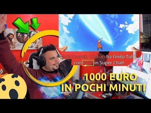 DONANO 1000 EURO A CICCIOGAMER89 IN POCHI MINUTI IN LIVE!! REAZIONE ASSURDA!!
