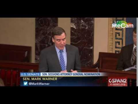 Sen. Mark Warner Speaks Against Jeff Sessions AG Nomination (2/8/17)