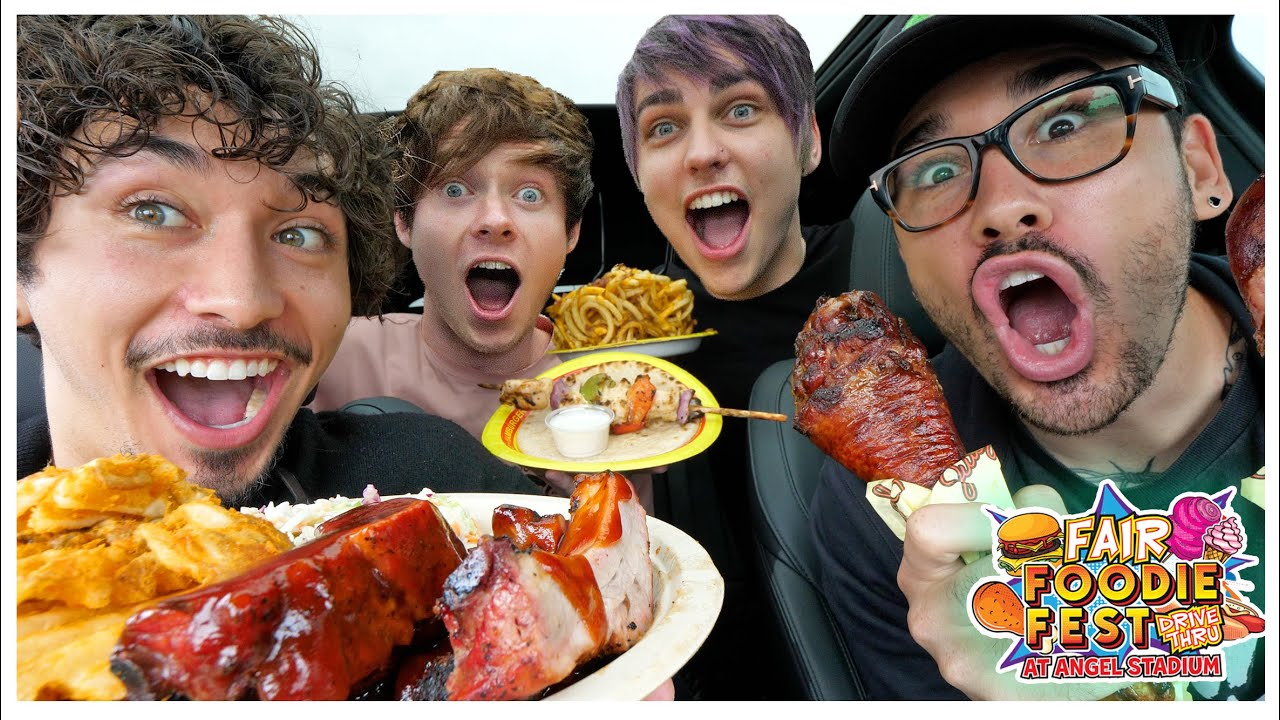 First Drive-Thru Food Festival w/ Sam and Colby! (10,000+ CALORIES)