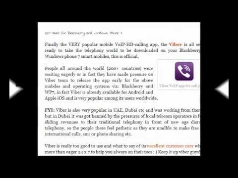 Viber mobile VoIP app for Blackberry and Windows phone 7