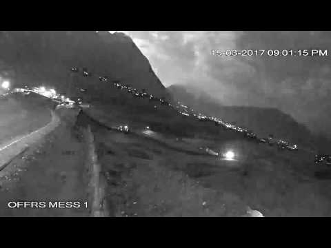 Meteor falling captured by CCTV camera in Gilgit Baltistan Pakistan - Shahab e saqib