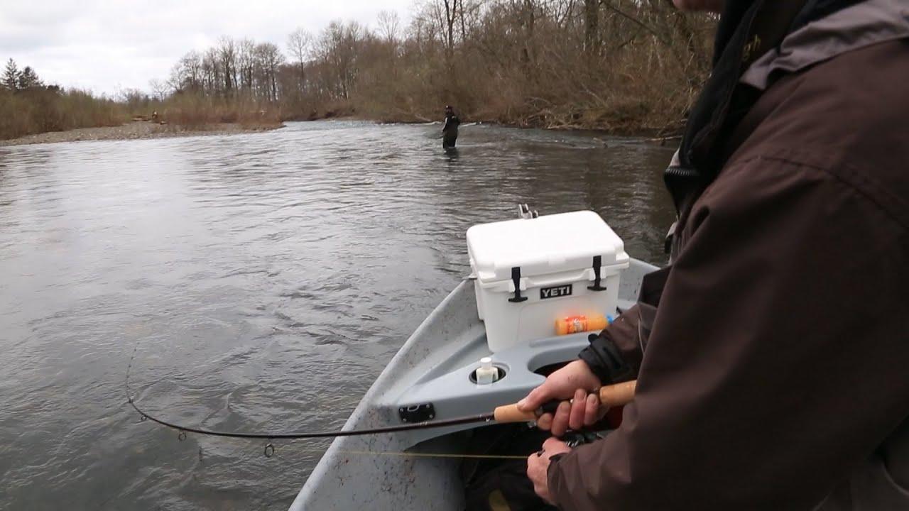 Trask river oregon winter steelhead fishing youtube for Trask river fishing report