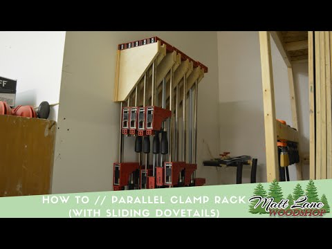 How To // Woodworking  Clamp Rack (With Sliding Dovetails)