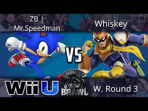 Gwinnett Brawl October 2017 - ZB | Mr.Speedman (Sonic) vs Whiskey (Falcon) - Smash 4 W. Round 3