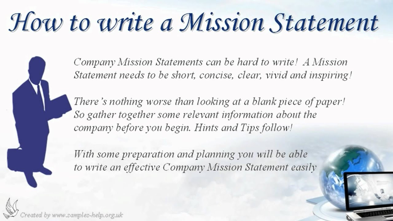 Youtube how to write a mission statement