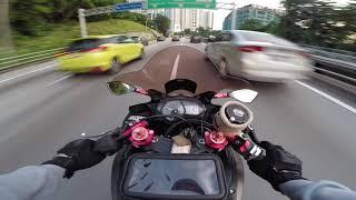 YAMAHA R25 RAW SOUND - Thru The City Evening RIdE Malaysia
