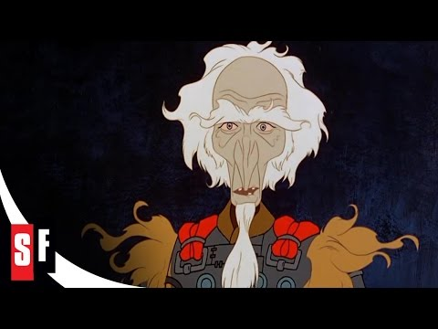 The Last Unicorn (5/5) King Haggard Demands to Know Who Amalthea Really Is (1982) HD