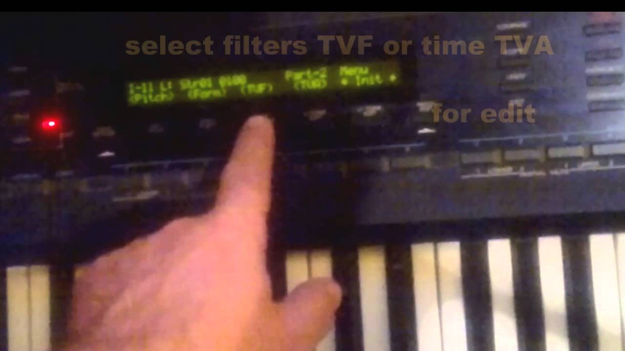 Roland D-50 quick sound edit TUTORIAL
