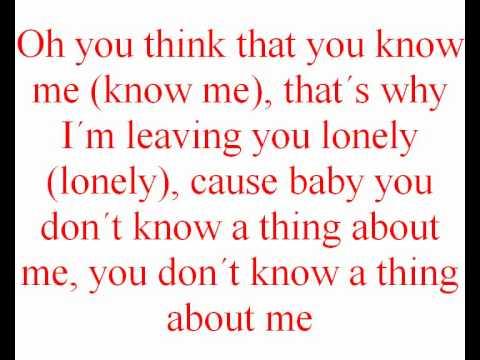 Kelly Clarkson Mr know it all Lyrics (on Screen)