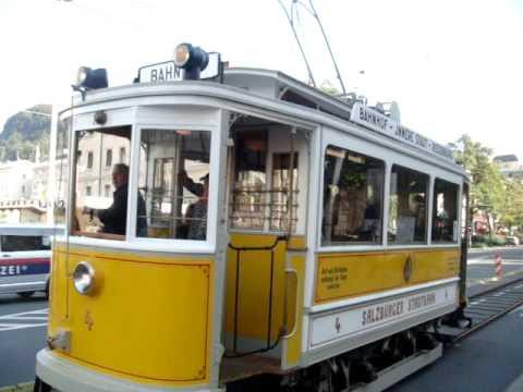 Salzburger Straßenbahn - Gelbe Elektrische - 2009 eine kurze Fahrt