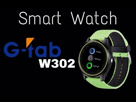 f3eda7bf1 G-Tab smartwatch W302 full in-depth review - YouTube
