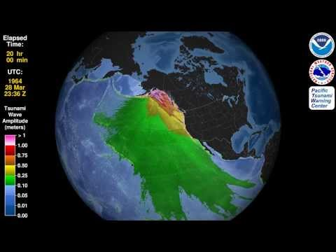 Tsunami Animation: Prince William Sound, Alaska, 1964 (virtual globe)