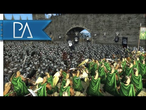 Elves Make Their Last Stand : Dwarves Send Reinforcements - Third Age Total War Mod Gameplay