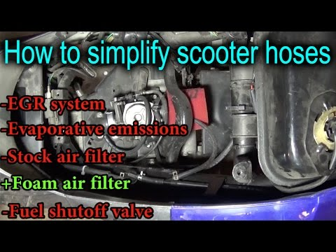 How to simplify vacuum hoses on a scooter