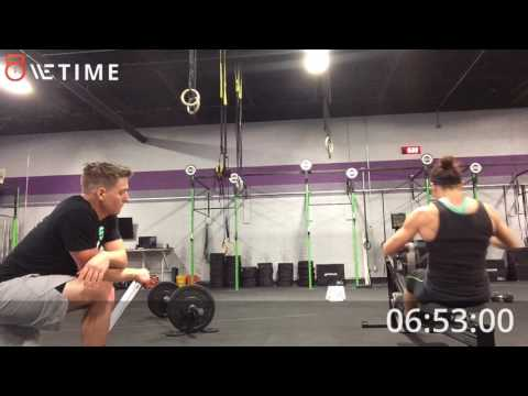 Crossfit masters online qualifier workout #1 Laura Nielsen mid-atlantic region 35-39
