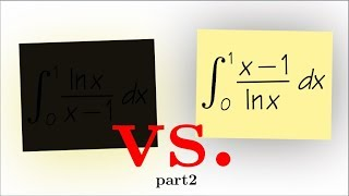 integral of (x-1)/ln(x) from 0 to 1, classic IIT JEE integral