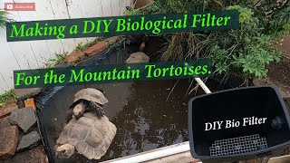 HOW TO: making DIY bio filter using a trashcan. (used for Mountain tortoise waterdish pond)