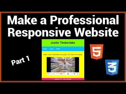 Make A Professional Responsive Website - Part 1/2 (HTML)