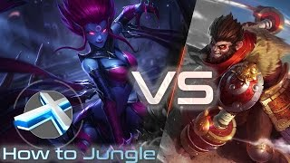 How to Jungle! LoL Evelynn (Eve) Jungle vs Wukong Patch 6.11 | Season 6 League of Legends german