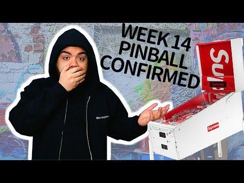 SUPREME SS18 STERN PINBALL MACHINE CONFIRMED FOR WEEK 14