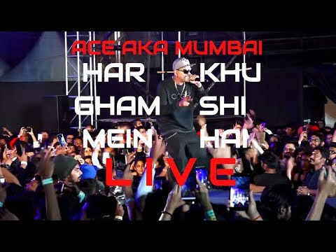 Har Gham Mein Khushi Hai I Live At Gully Boy Music Launch I Ace Aka Mumbai I Mumbai's Finest