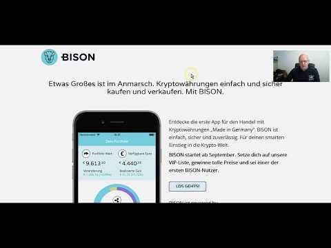 German Stock Exchange - Bison App Crypto Trading deutsch / Germany, Powered by Boerse Stuttgart