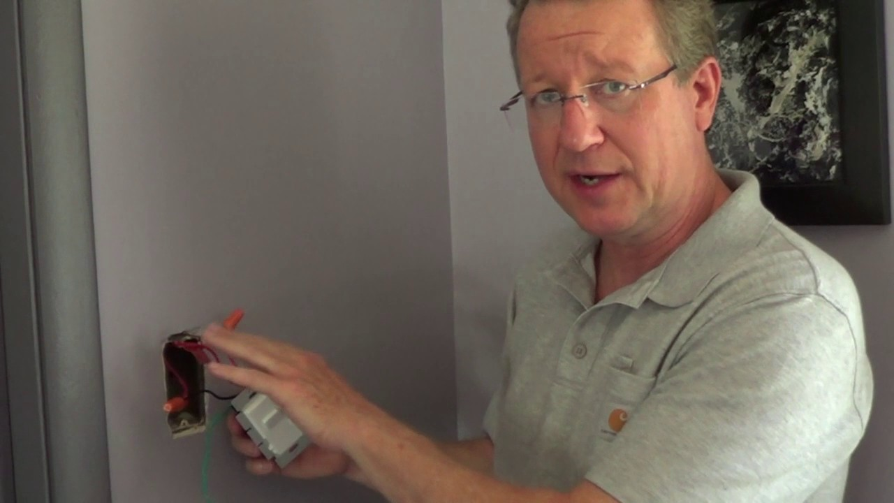 How To Install A Dimmer Switch Single Pole Dimmer Youtube