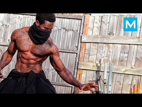 REAL NINJA with Crazy Skills - Giga Uguru | Muscle Madness