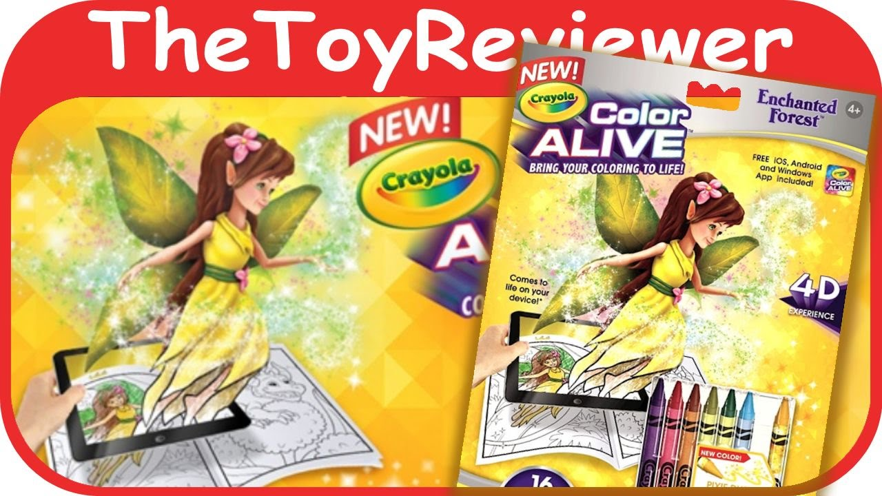 enchanted forest crayola color alive action coloring pages