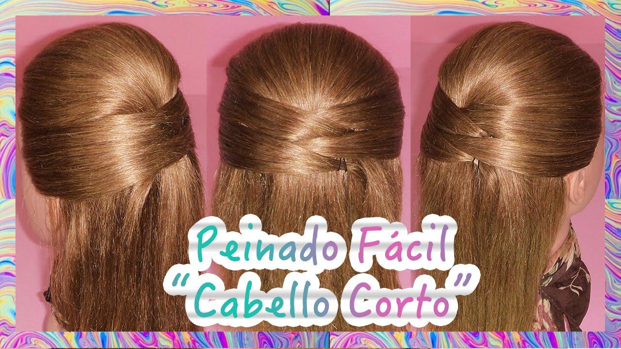 Peinado Facil Para Cabello Corto Short Hair Hairstyle