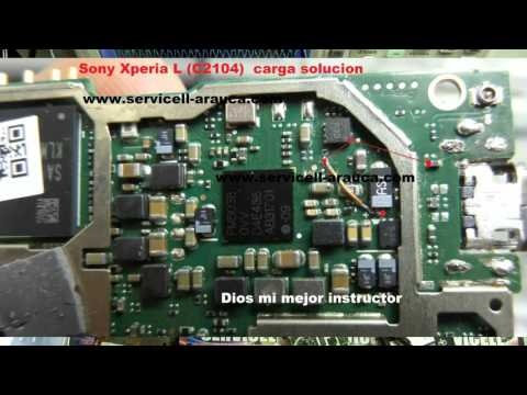 reparación Sony Xperia L C2104 C2105 no carga charging solution